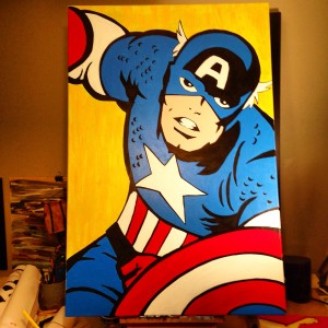 Captain America Painting by AO