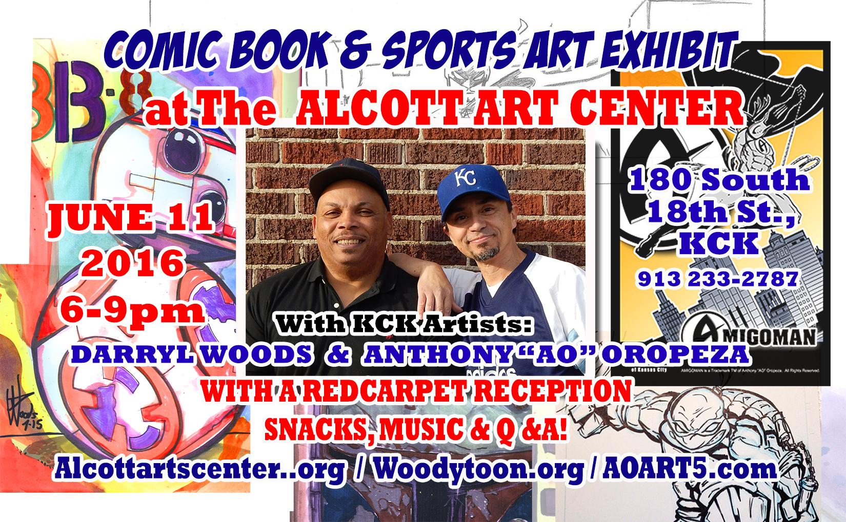 Anthony AO Oropeza Art show at Alcott