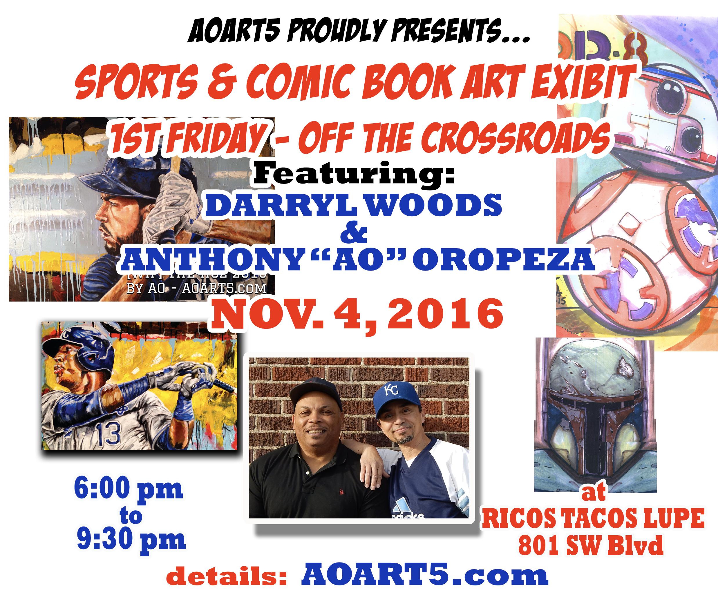 Anthony AO Oropeza Sports art show