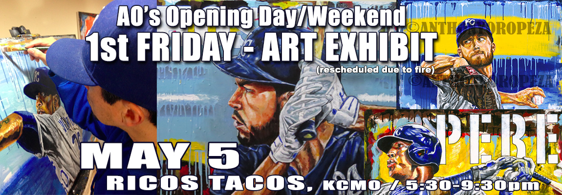 Anthony Oropeza (AO's) First Friday Off The CrossRoads Opening Day Weekend Art Exhibit at Ricos Tacos - May 5th