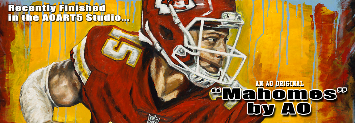 2018 Mahomes Painting by AO