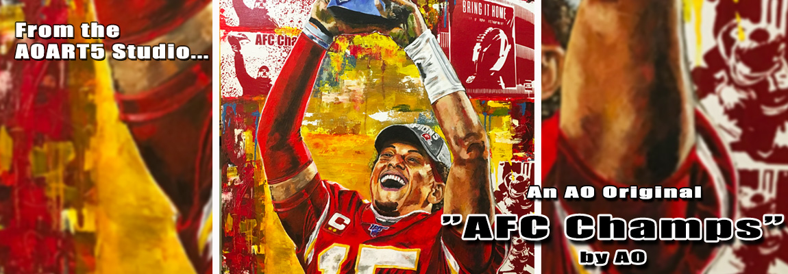 AFC Champs-Patrick Mahomes by Anthony Oropeza