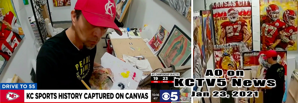 AO (Anthony Oropeza) featured on KCTV5 news with Nathan Vicker)