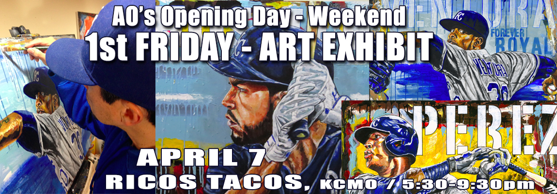 AO's 2nd Annual Opening Day - Weekend First Friday Sports Art Exhibit by AO Oropeza