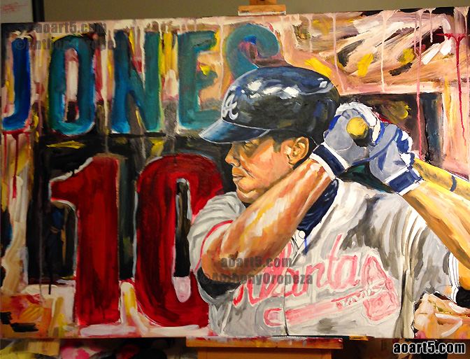 Chipper Jones #10 By AO