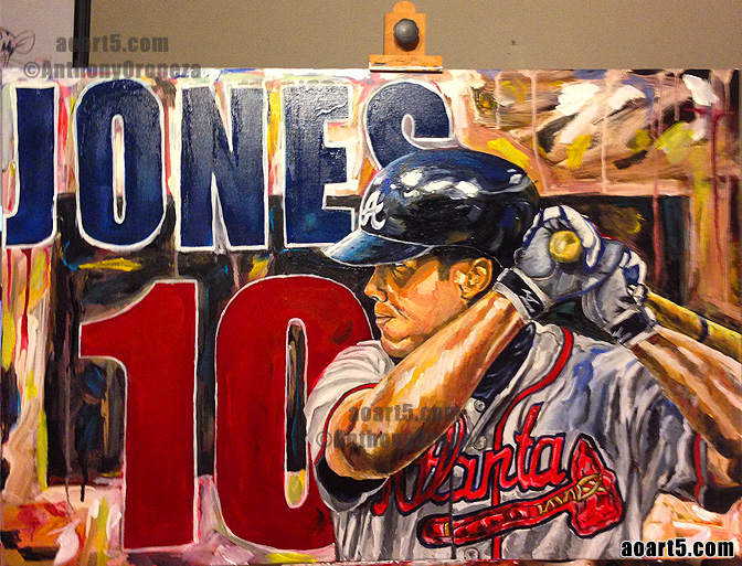 Chipper Jones #10 By AO - Anthony Oropeza