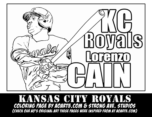 Example 1: Lorenzo Cain coloring page by AO
