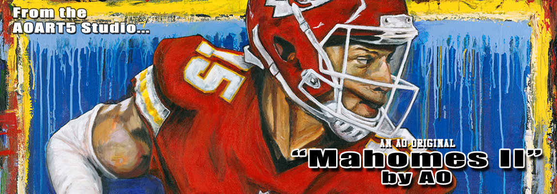 2019 Mahomes II Painting by Anthony Oropeza