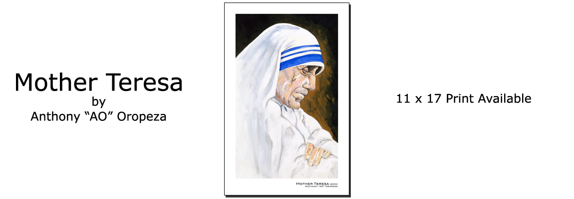 Mother Teresa by Anthony AO Oropeza